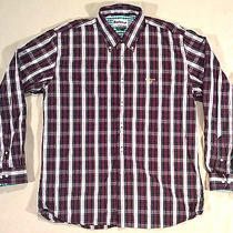 Barbour Regular Fit Long Sleeve Button Up Shirt Men's Large Photo