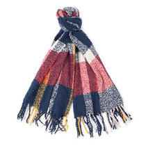 Barbour Ridley Boucle Scarf Claret / Pearl / Navy - January Sale Photo