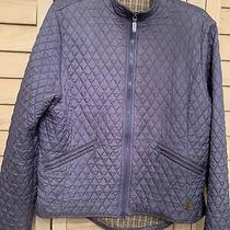 Barbour Size Us 12 Large Blue Quilted Womens Coat Jacket Photo