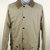 Barbour  Solid Tan Lightweight Beaufort Cotton Hooded Barn Jacket Medium Photo