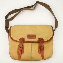 Barbour Tarras Tan Cotton Canvas & Leather Shoulder Game Bag Photo