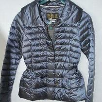 Barbour Tartan Navy Luxe Ladies Borthwick Belted Quilted Jacket Uk 18 Photo