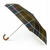 Barbour Tartan Plaid Mini Umbrella - Green 1037 Photo