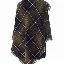 Barbour Tartan Shawl Scarf Tartan Plaid Checked Merino Wool Photo