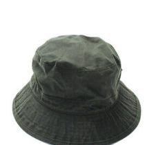 Barbour Unisex Casual Bucket Hat Black Cotton Size Small Photo