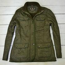 Barbour Utility Winter Quilt Womens Jacket Outdoor Quilted Coat Size 14 Uk Large Photo