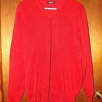 Barbour v-Neck Sweater - M - Red Photo