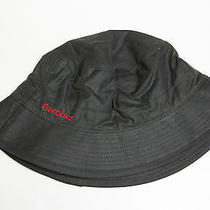 Barbour Waxed Cotton Bucket Sports Hat Olive Green  Sz Medium Photo