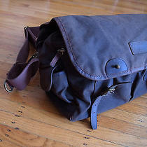 Barbour Waxed Cotton Country Bag Outdoor Canvas Messanger Satchel Photo