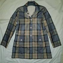 Barbour Women Jacket Reversible Derby Mac Waterproof Creme Lwb0194cr51 Size 10 Photo