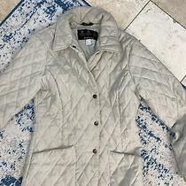 Barbour Women's Button Down Quilted Jacket Size 6 Tan Photo