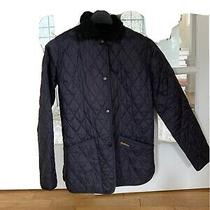 Barbour Womens Navy Jacket Size 4 Liddesdale Photo
