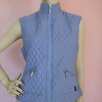 Barbour Women's Quilted  Blue Gilet Vest Us 6 Photo