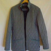 Barbour Women's Quilted Micro Suede Field Jacket Size 6 Photo