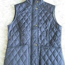 Barbour Women's Size 6 Navy Pearl Quilted Vest Summer Liddesdale Gilet Bnwt 119 Photo