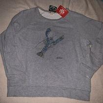 Barbour Womens Sweatshirt Lobster Nwt Sz Uk Large Heather Gray Casual Photo