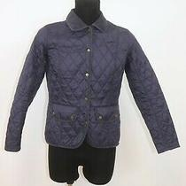 Barbour Womens Vintage Quilted Detailed Urban Casual Jacket Size 38 Photo