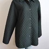 Barbour Womens Black Quilted Microfiber Jacket Us 10 Photo