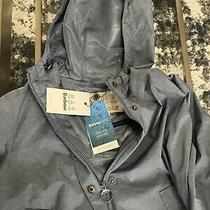 Barbour Womens Lottie Hooded Waterproof Raincoat Coat Uk 10 / Us 6 Slate Blue Photo