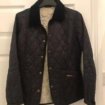Barbour Womens Navy Quilted Jacket Size Uk 8 Photo