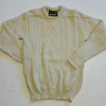 Barbour Wool Cable Knit Fisherman's Sweater Sz Photo