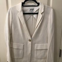 Barely Worn White Armani 1 Button Closure Blazer Jacket W Front Pockets Size 4 Photo