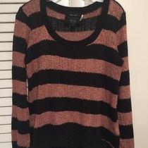Barneys New York Co-Op X Splendid Black/copper Scoop Neck Womens Sweater Size L Photo