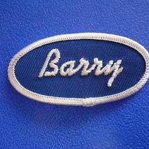 Barry Name Vtg Usa Made Work Jean Uniform Shirt T Jacket Cap Bag Dress Hat Patch Photo