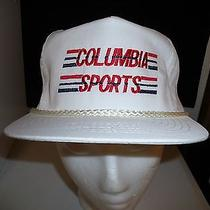 Baseball Cap Columbia Sports Trucker Hat Unique Retro Rare Photo