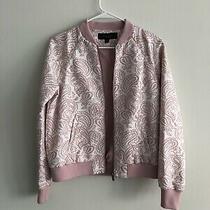 Baseball Embroidered Jacket New No Tags Women Size S Victoria Beckham Blush Pink Photo