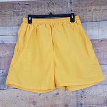 Basix Body Surf Shorts Trunks Mens Size L 100% Nylon Yellow Ll20 Photo