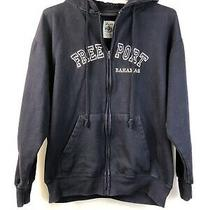 Basix Jacket Hoodie Sweatshirt Freeport Bahamas Vacation Wear Navy Blue Size L  Photo