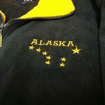 Basix Life Style  Usa Fleece Zip Front Jacket - Unisex- Xl - Alaska Logo - Blue Photo