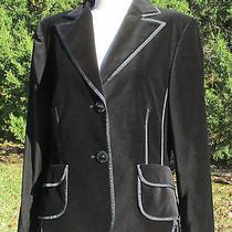 Basler Black Velvet Blazer/jacket Sz 10  Photo