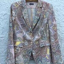 Basler Blazer Coat Fr42 Uk14 Pastel Print Pattern Photo