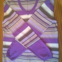 Basler Jumper Purple Striped Button Cuffs Photo