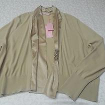 Basler Modern Art Cardigan Nwt- Size 16 - Beige Photo