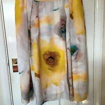 Basler Skirt Yellow Floral Size 20 Pre Owned Photo