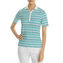 Basler Womens Blue Striped Embellished Tee Polo Top Shirt Plus 24 Bhfo 7965 Photo