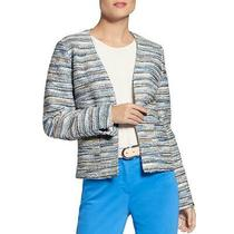 Basler Womens Blue Tweed Short Business Blazer Jacket 12 Bhfo 9714 Photo