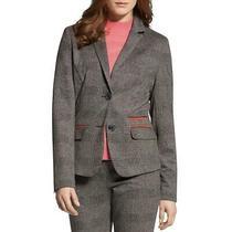 Basler Womens Gray Plaid Business Two-Button Blazer Jacket Plus 18 Bhfo 0184 Photo