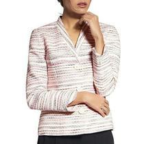 Basler Womens Pink Metallic v-Neck Three-Button Blazer Jacket 22 Bhfo 3821 Photo