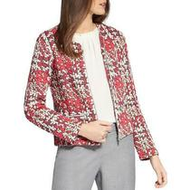 Basler Womens Pink Plaid Tweed Jacket Blazer Plus 22 Bhfo 0897 Photo