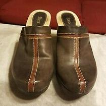 Bass Women's Brown Mules Clogs Size 9 Excellent Condition Worn Maybe 3x See Pics Photo