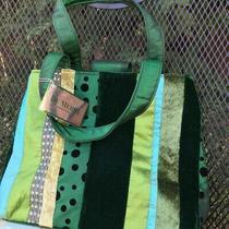 Bath & Body Works Green Velvet Sequins Sweet Pea Purse Bag Nwt Photo