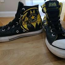 Batman Converse All Star Sneakers Size 3 Youth Black Yellow Photo