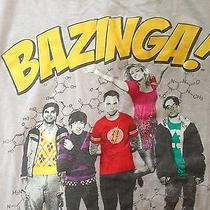 Bazinga Big Bang Theory Tv Show Cast Image Gray Cotton Crew Neck Tee Shirt S Photo