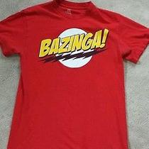 Bazinga Big Bang Theory Tv T-Shirt Size Men's Small Sheldon Graphic Tee S Photo