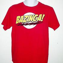 Bazinga Red T-Shirt Size Adult Medium From the Big Bang Theory Tv Show Photo