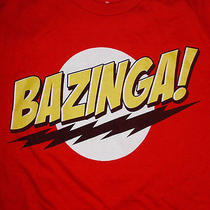 Bazinga T-Shirt Medium Big Bang Theory Sheldon Flash Logo Parody Cbs Tv Sitcom Photo